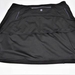 Tangerine Women's Black Active Skort Back Pocket